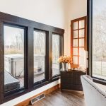 dark window trim